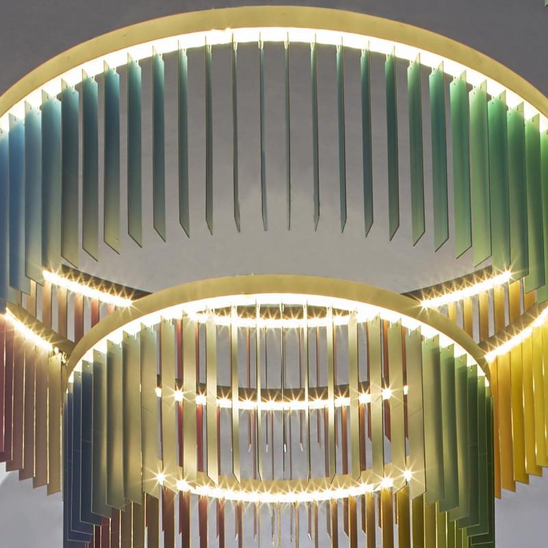 Colour chandelier, SEC Himmelblau Room